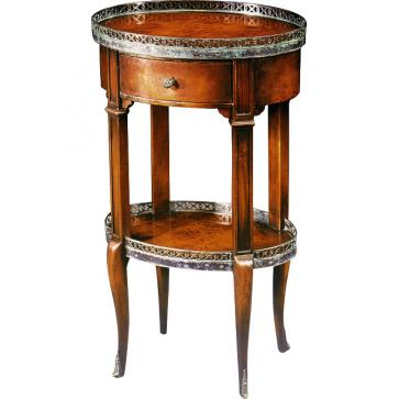 Louis XVI oval lamp table
