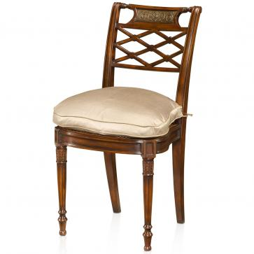 Louis XVI style hand carved side chair