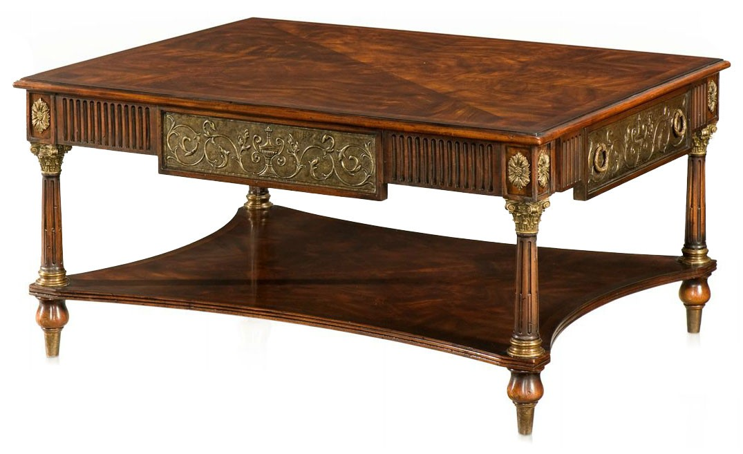 Louis XVI style repousse coffee table