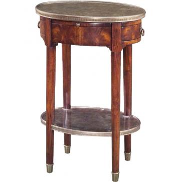 Louis XVI style walnut lamp table