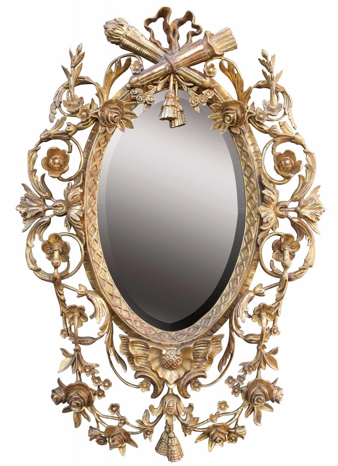 Louis XVI style water gilded mirror