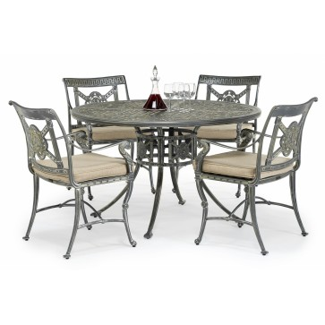 Luxor metal outdoor round dining set