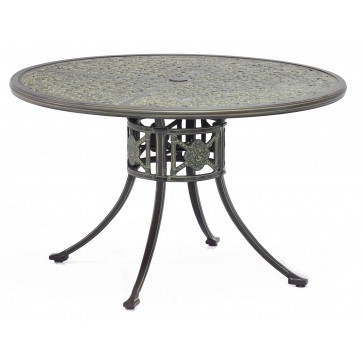 Luxor metal outdoor round dining table