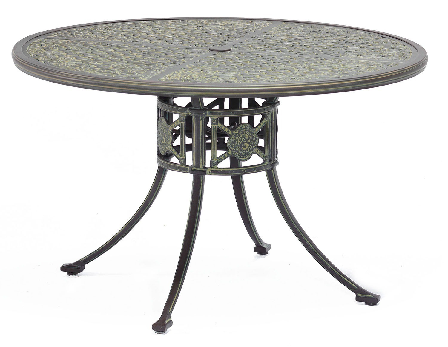 Luxor Metal Outdoor Round Dining Table From Brights Of