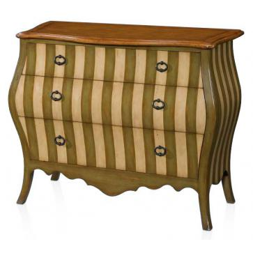 Madeleine bombe chest - olive and ivory