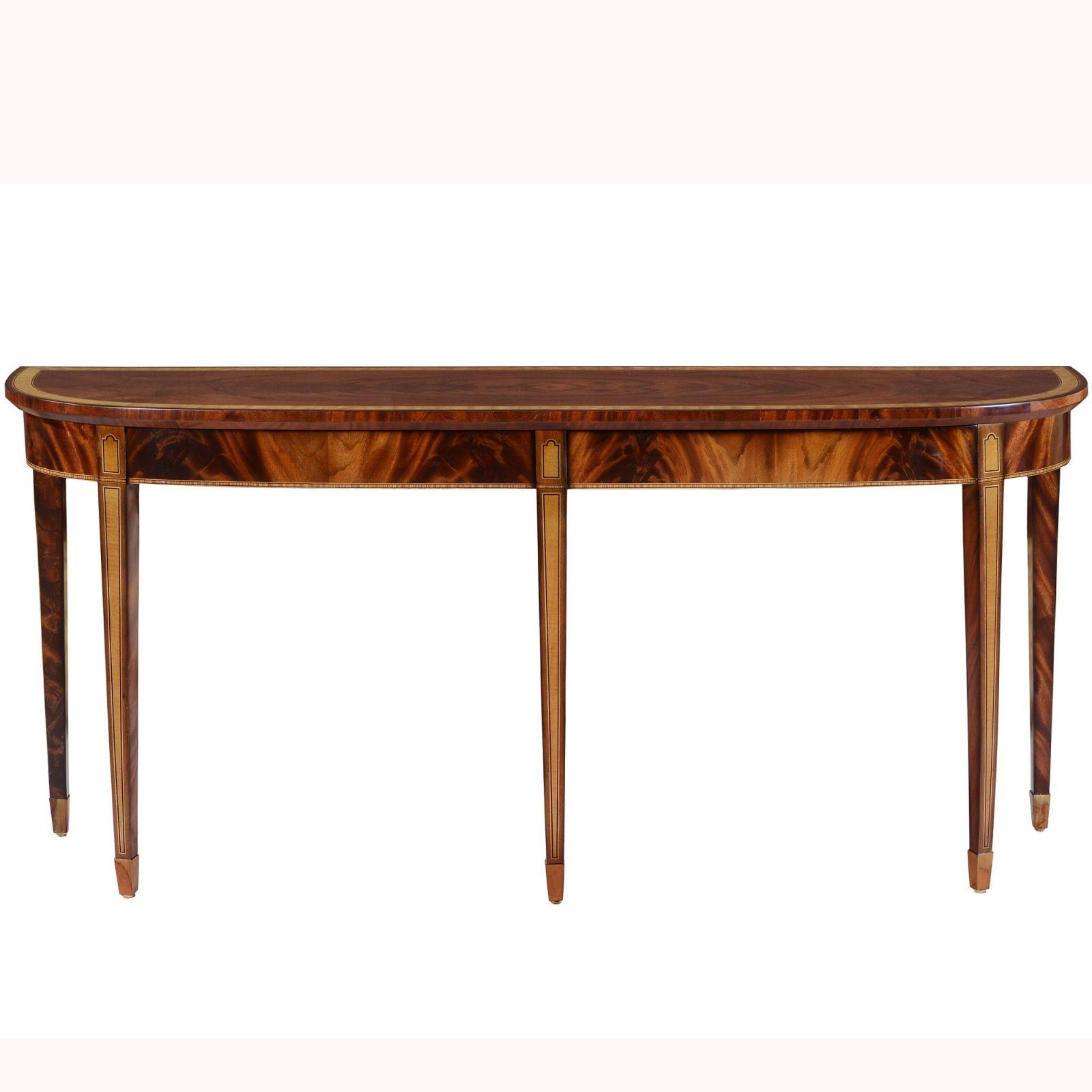 Mahogany 18thC Style Console - Two Drawers