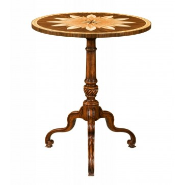 Mahogany and marquetry side table