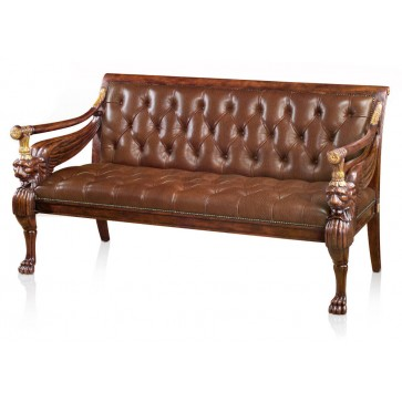 Mahogany and parcel gilt settee - Raw Umber