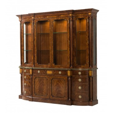 Mahogany crossbanded display cabinet