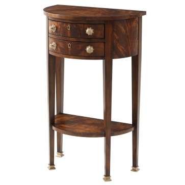 Mahogany demi-lune console table
