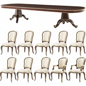 Mahogany Extending Dining Table and 10 chairs