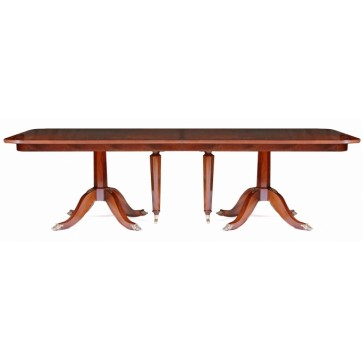 Mahogany extending dining table