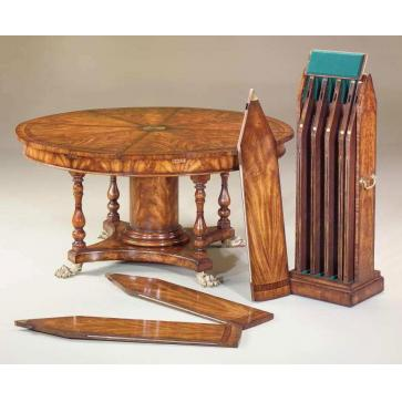 Mahogany Jupe's table - Dia 60 to 84