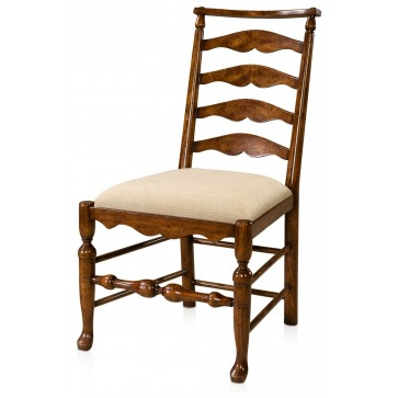 Mahogany ladder back side chair