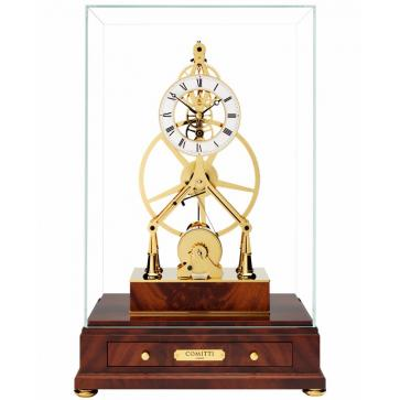 Mahogany Mayfair Great Wheel skeleton clock