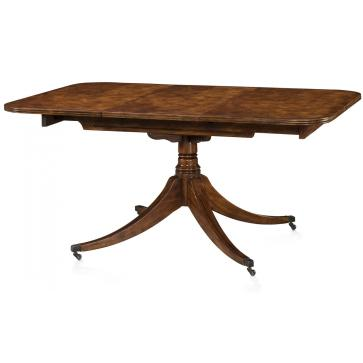Mahogany mechanically extending dining table