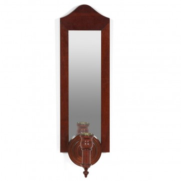 Mahogany mirror with candle hodler