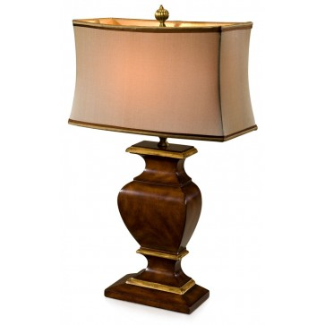 Mahogany table lamp