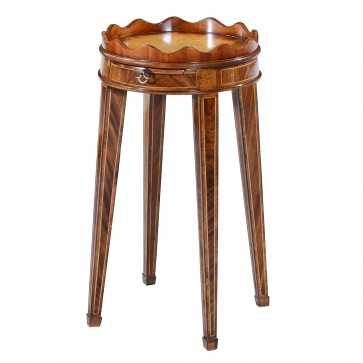 Mahogany wine table - 14in top