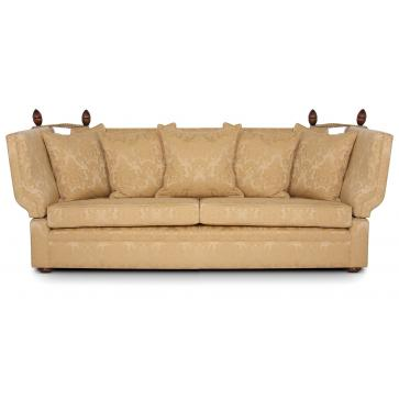 Manor Knole 4 seat sofa in gold damask
