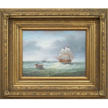 Marine oil painting of Ships At Sea