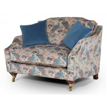 Marlow snuggle chair in Utopia Peacock