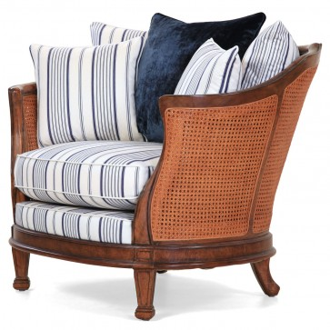 Mauretania Chair in cotton ticking stripe