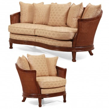 Mauretania Sofa + Chair - Burr oak frame