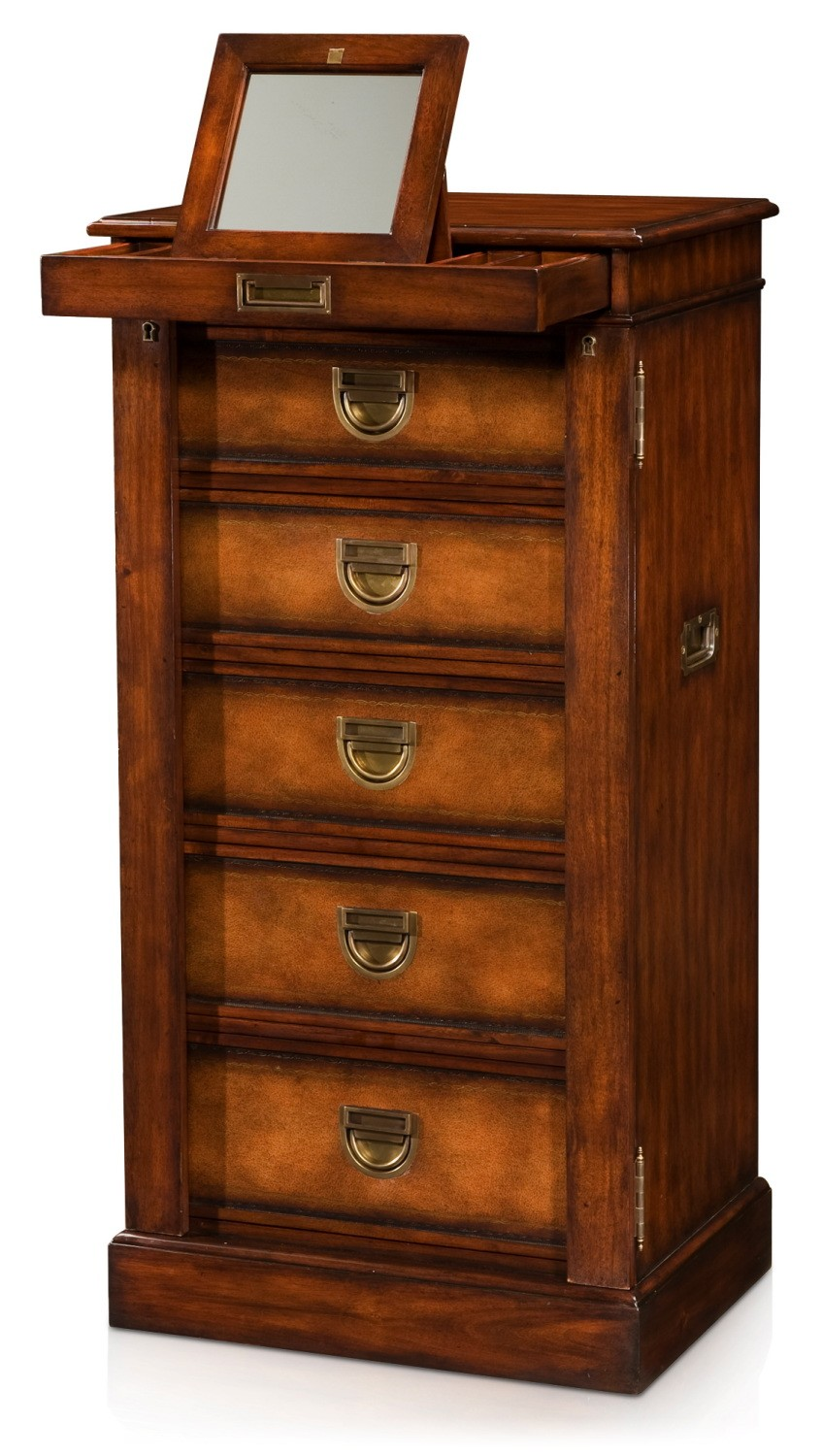 Military Campaign Wellington tall chest of drawers