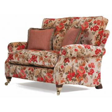 Monet 2 seat sofa in an antiqued velvet print
