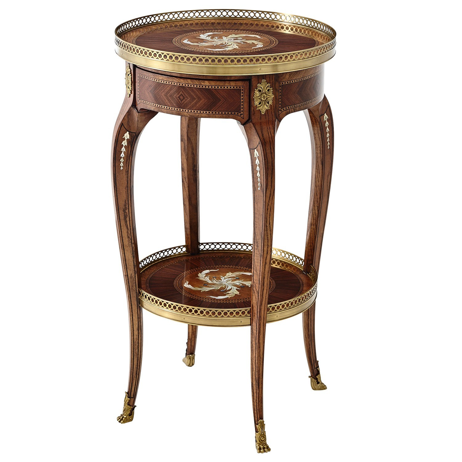 Mother of pearl inlay side table
