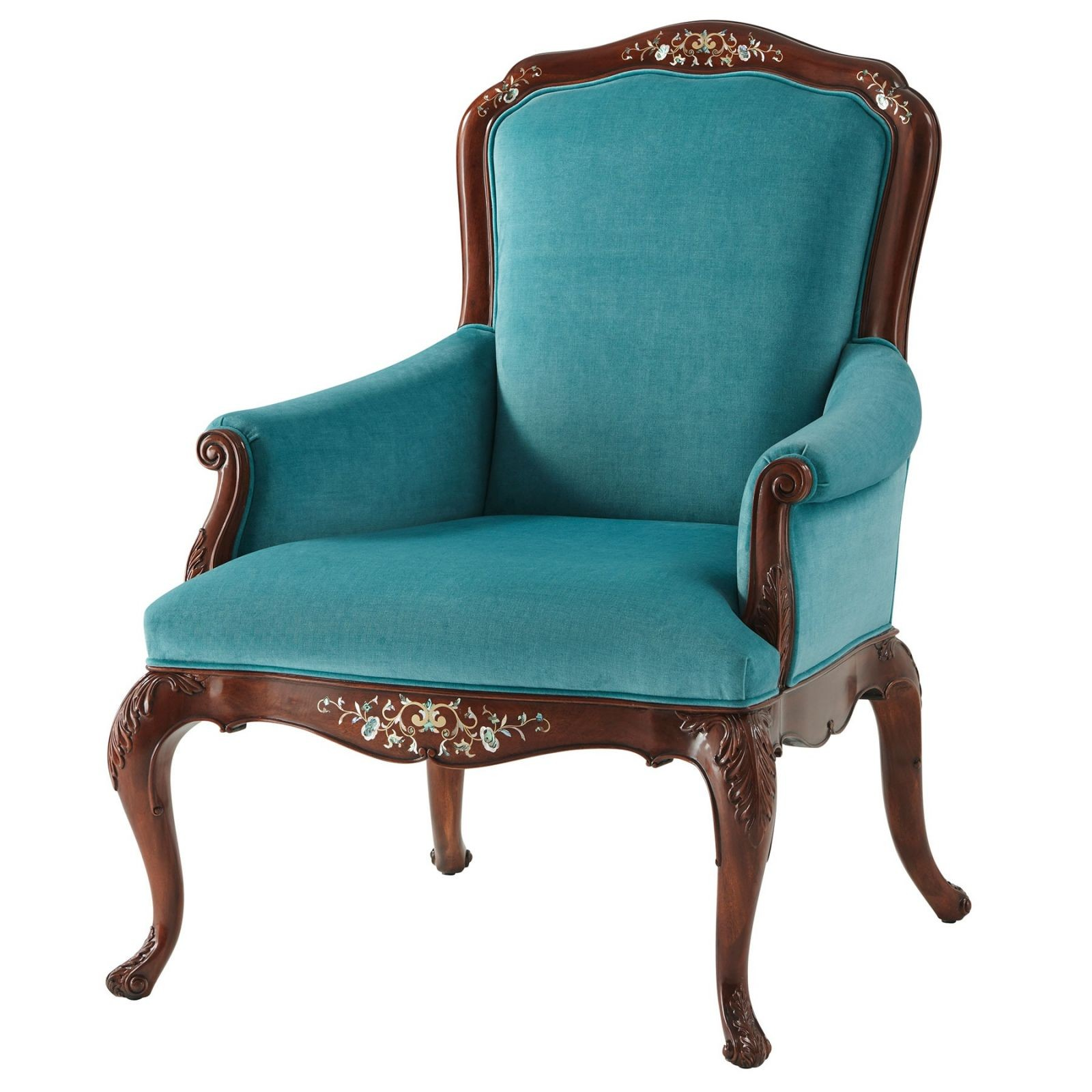 Mother of Pearl Inliad Arm Chair