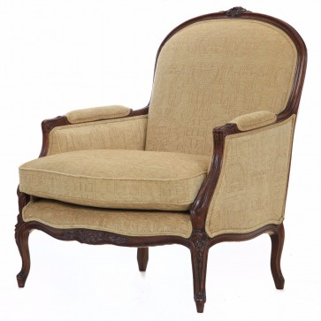 Naples chair in pale gold chenille