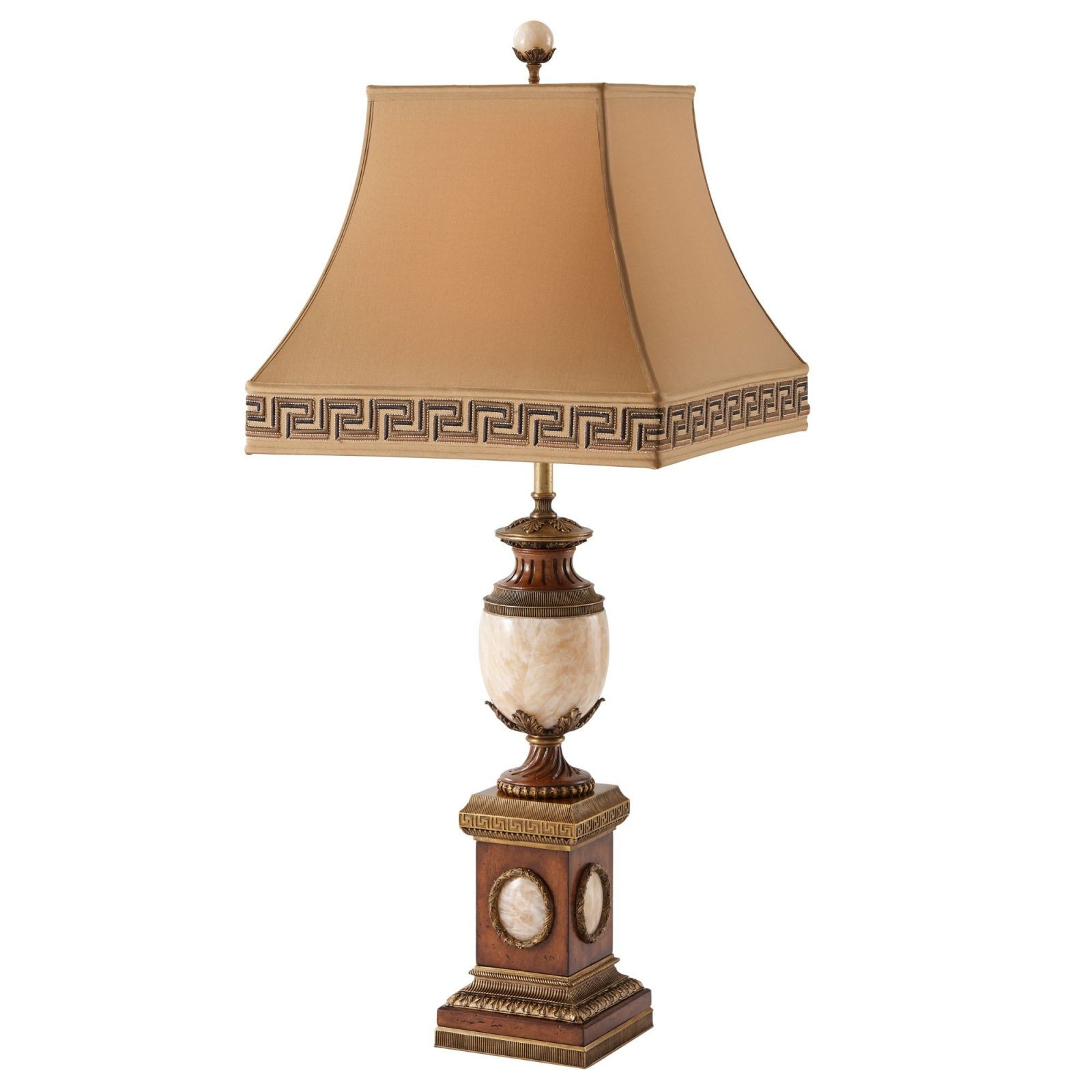 Neo-classical brass and onyx table lamp