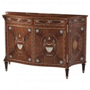 Neoclassical Chest with Finely Detailed Mother of Pearl Inlay