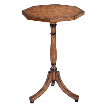Octagonal wine table - Burr oak