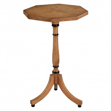 Octagonal wine table - Honey burr oak