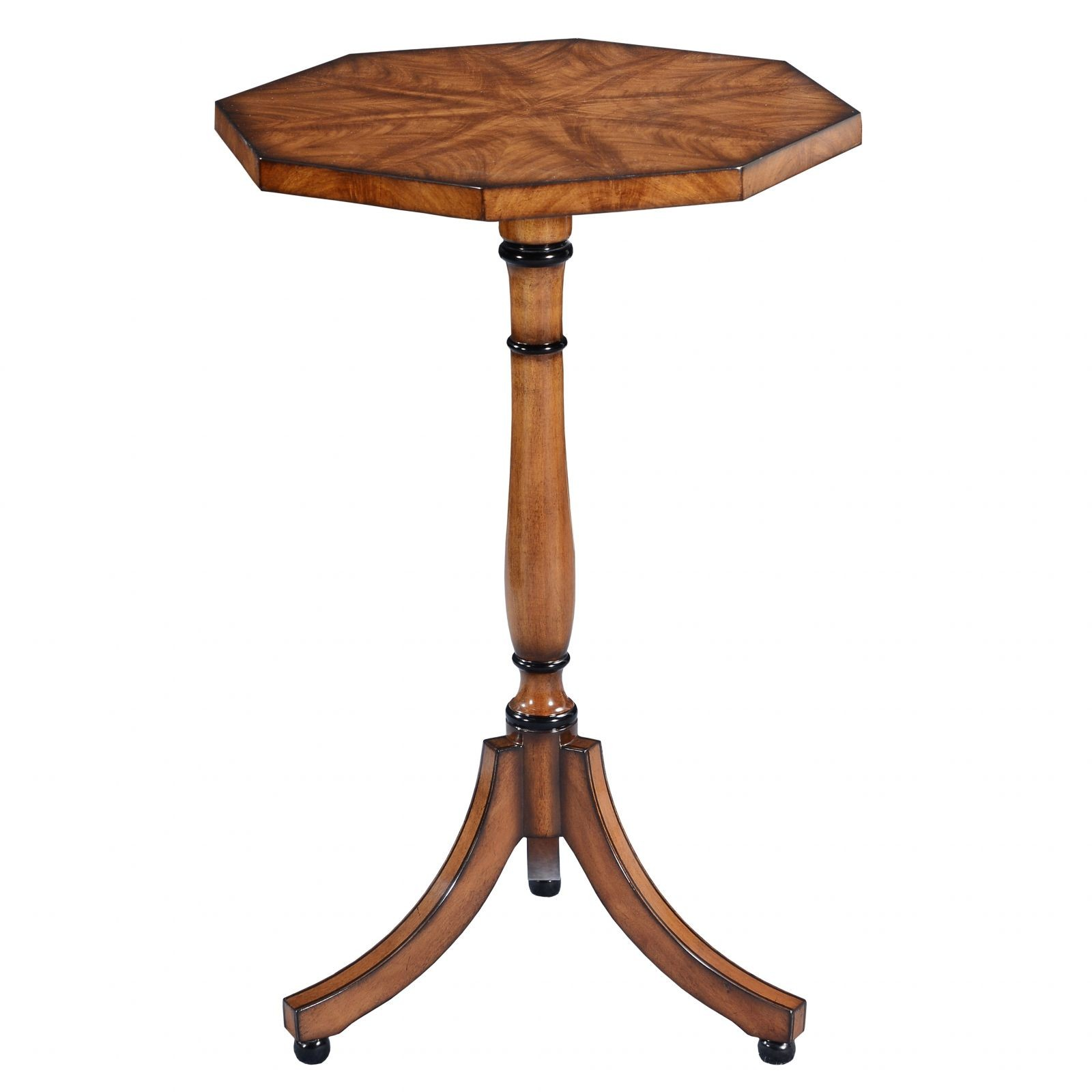 Octagonal wine table - Mahogany