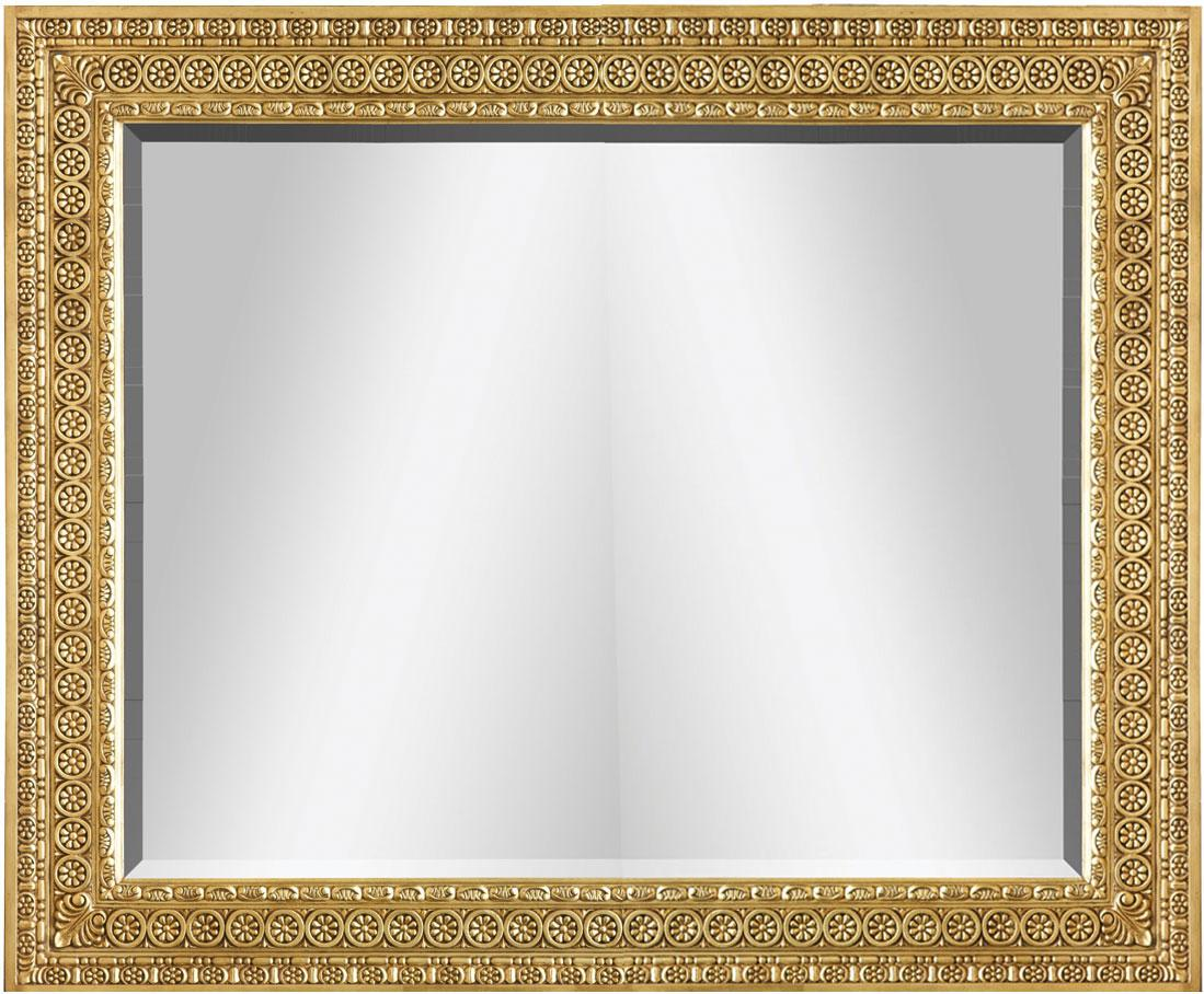 Oil gilded George II style mirror - 48in.