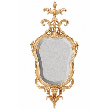 Oil gilded period mirror with antiqued glass
