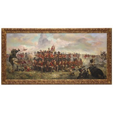 Oil Painting after '28th Regiment at Quatre Bras' by Lady Butler