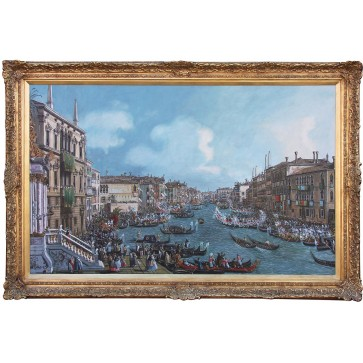 Oil Painting after 'A Regatta On The Grand Canal' by Canaletto