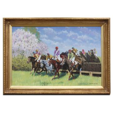 "Oil Painting after ""Apple Blossom: A Point to Point Race"" by Wilf Plowman"