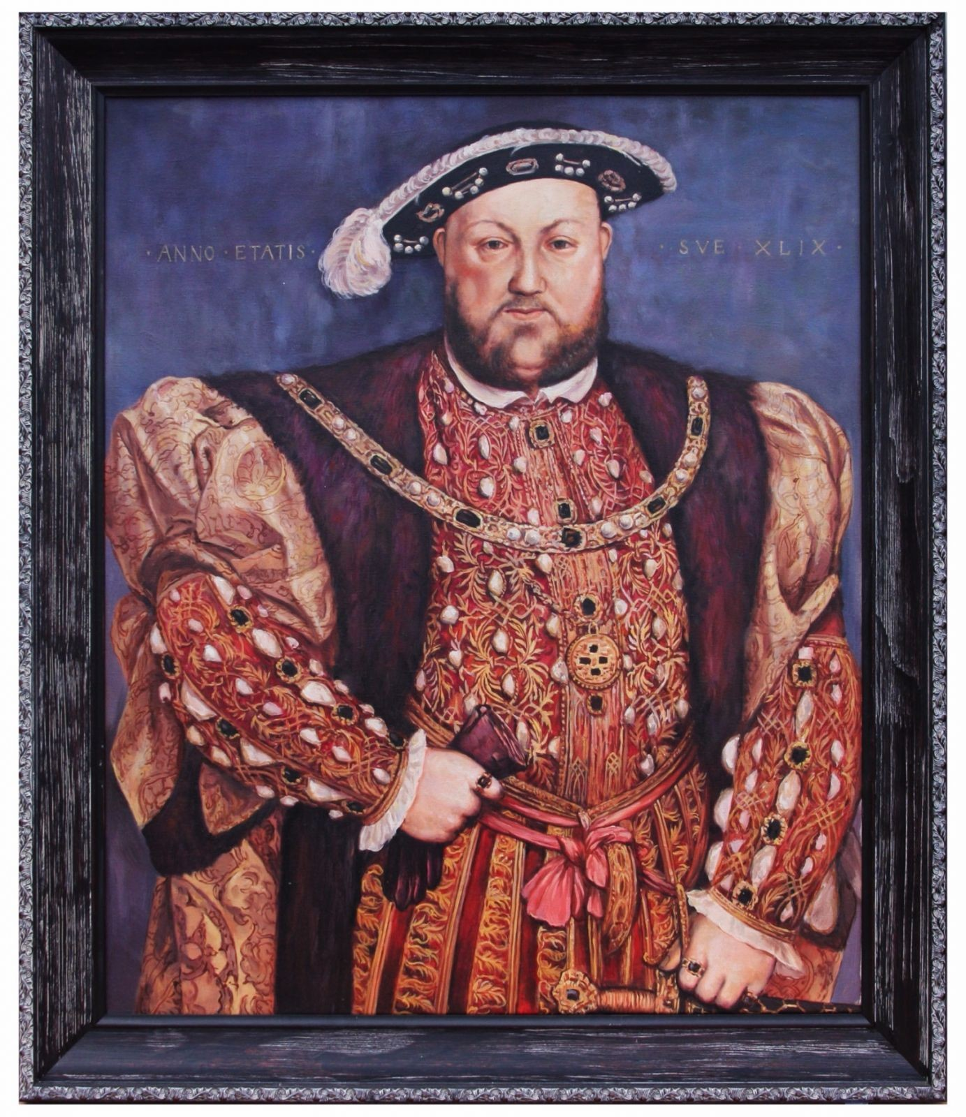 Oil Painting after 'Henry VIII Royal Portrait' by Hans Holbein the Younger