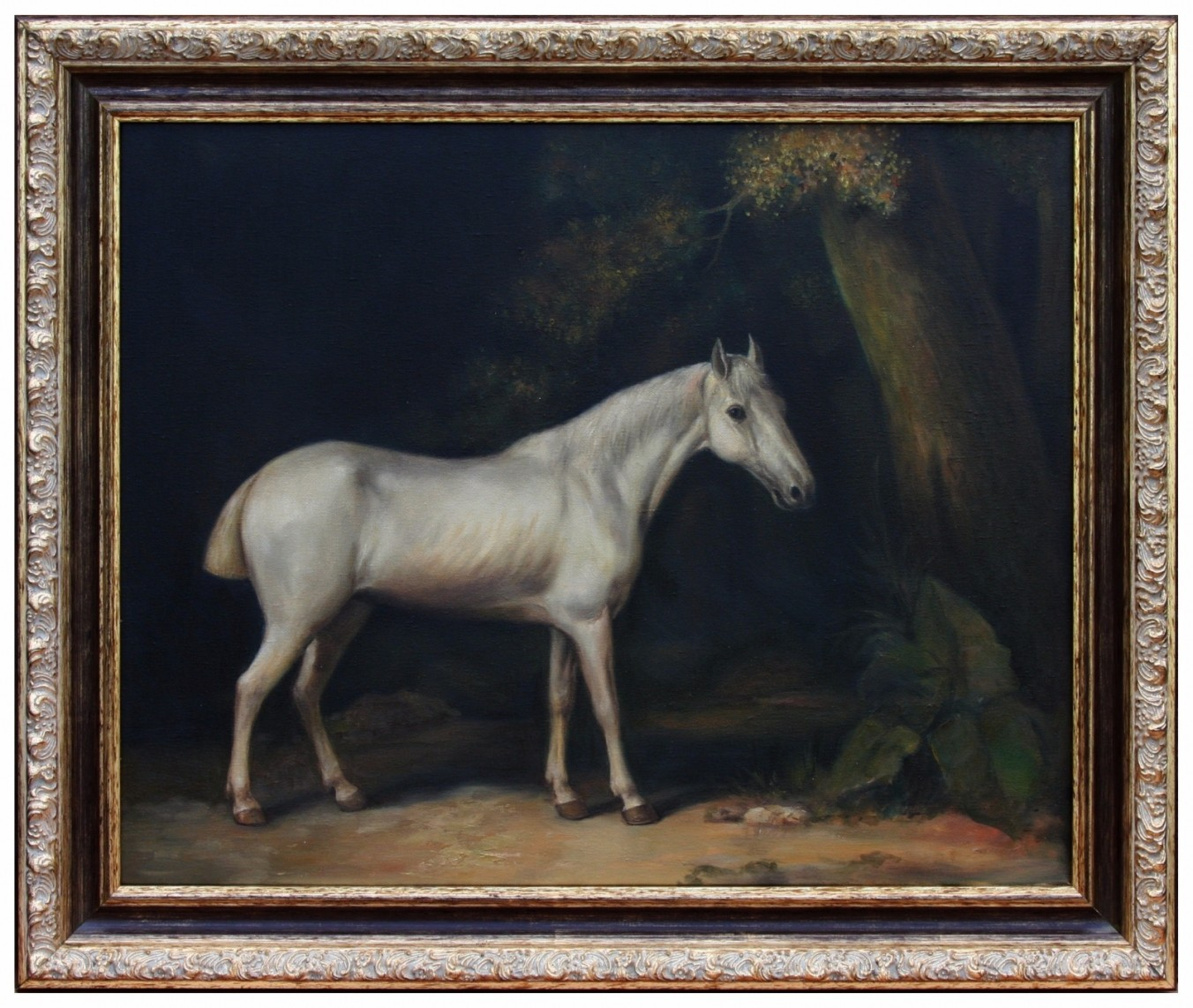 Oil Painting after 'Horse in the Shade of a Wood' by George Stubbs