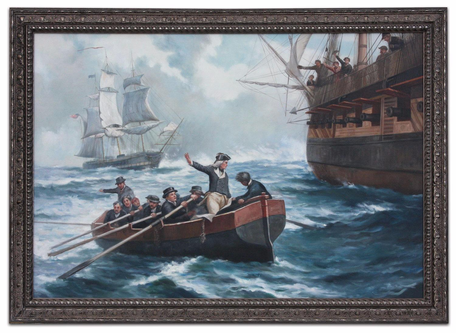 Oil painting after 'Nelson's First Prize' by Bernard Finnigan Gribble