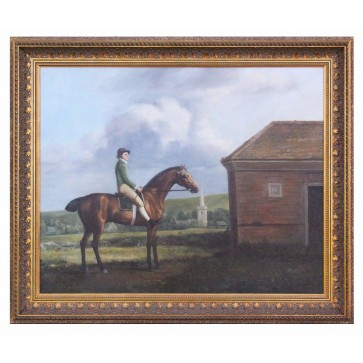 Oil Painting after 'Otho, with John Larkin Up' by George Stubbs