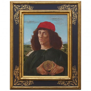 Oil Painting after 'Portrait of a Man with a Medal of Cosimo the Elder' by Botticelli