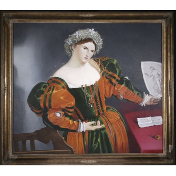 Oil Painting after 'Portrait of lady as Lucretia' by Lorenzo Lotto