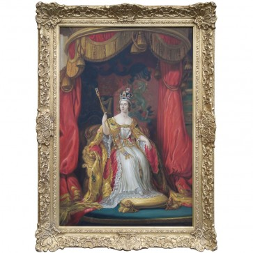 Oil Painting after 'Queen Victoria' by Sir George Hayter